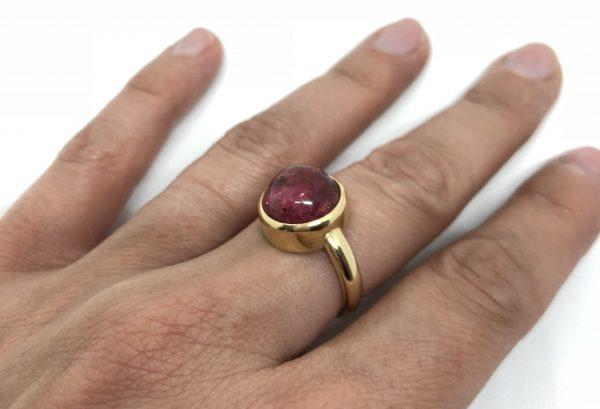 Gouden ring met tourmalijn