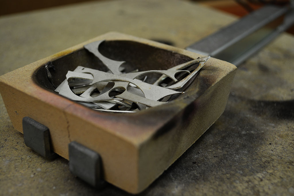 Zilver smelten - Goudsmid Nele Blanckaert